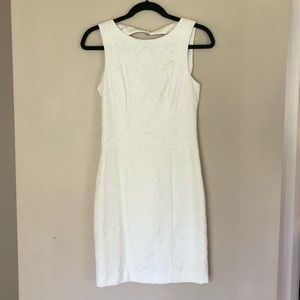 H&M white embroidered cocktail dress!
